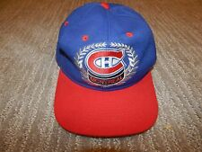 #1 Apparel MONTREAL CANADIENS Blue Fitted Hat / Cap Men's Size 7 1/2 VINTAGE