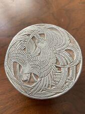 Rene Lalique Bird's of Paradise aluminum powder box Roger ET Gallet Paris