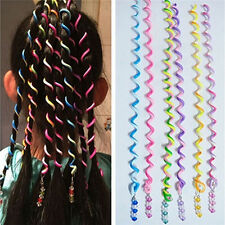Spiral Plastic Coloured Hair Band Hairband Bobble Stretchy Toggle Elastic  Curly 33948482d93