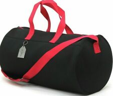 DIESEL BLACK RED WEEKEND BAG SPORT HOLDALL TRAVEL DESIGNER GYM BAG *NEW