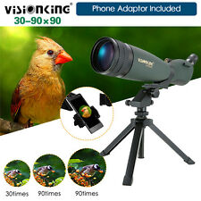 Visionking 30-90x90 Spotting Scope W/Cell Phone Adaptor IP 66 FMC Zoom Fr Huting