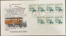 FDC FIRST DAY COVER TRANSPORTATION SERIES SCHOOL BUS 1920s ARTMASTER CACHET