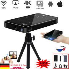 LED HD WLAN Bluetooth Mini Projektor Heimkino Beamer TV Spiel HDMI Video 4K DHL