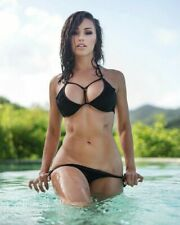 Ana Cheri Posing In Black Swimsuit 8x10 Picture Celebrity Print