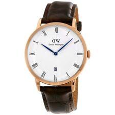 Daniel Wellington Men's Dapper York Rosegold  1102DW Brown Leather Quartz watch
