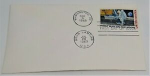 """2 Identical FDC 1969 Moon Landing, Envelopes, First Day Covers, 3 1/2"""" x 6 1/2"""""""