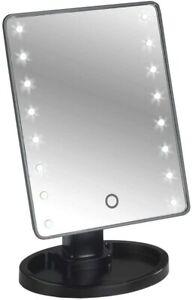 Wenko Theater LED-Standspiegel mit LED-Beleuchtung, schwenkbar Schwarz