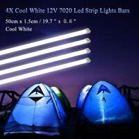 4X 50CM 12V 7020 LED STRIP LIGHT BAR CARAVAN 4WD CAMPING BOAT TENT FISHING NEW