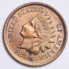 1896 Indian Head Cent Penny CHOICE UNC FREE SHIPPING E148 ANC