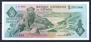 Congo 50 Francs P5 1962 UNC Rare