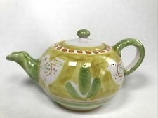 More details for vietri made in italy solimene campagna style hand painted yellow chicken teapot