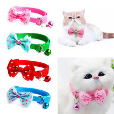Bowknot Pet Necktie With Bell Adjustable Dog Cat Collar Puppy Kitten Bow Tie HOT