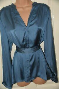 RAIL 1 - Lovely silky blouse / top, UK 16,  BN, blue