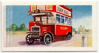 1927 Open Top Deck L.G.O.C. Bus  London England Vintage Trade Ad Card