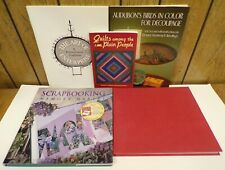 5 Art Books: The Art of Enterprise, Quilts, Birds in Color Decoupage, Applique