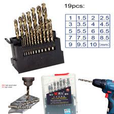19pcs M42 HSS Twist Drill Bit Set For Stainless Metal 8% High Cobalt Copper Iron