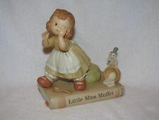 "Lucie Attwell Memories Of Yesterday ""Little Miss Muffet"" Bisque Figurine 1993"