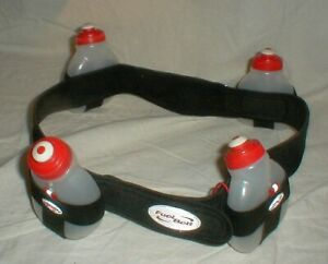 Hydration Fuel Belt 4-Water Bottles & Pouch Running/Hiking/Jogging/Cycling