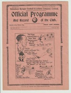 Tottenham Hotspur V Millwall Rare London Combination Programme 1937/38