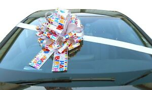 BIG CAR BOW - Mega Giant Extra Large Bow New Cars, Birthday Presents, Big Gifts
