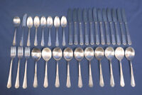 Wm. Rogers International Silverplate Fidelis 1933 pattern Flatware Set 33 pcs.