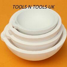 Qualità Ceramica Crogioli Piatto 4 Grande Taglie Fuso Silice Sciogliere Oro Rame