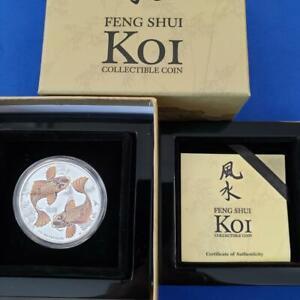 2012 NIUE $2 1ozt .999 Silver KOI Proof colorized 6863/8000 coa/boxes L10439