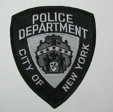 New York State City Police Regulation Subdued Vest Morale Patch NYPD H&L