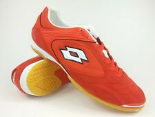 Lotto Mens Rare M6180.ORA Red White Indoor Soccer Shoes Boots Size 10.5