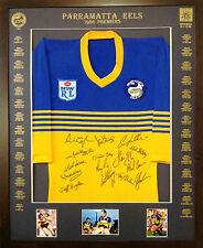 Blazed In Glory - 1986 Parramatta Eels Premiers - NRL Signed & Framed Jersey