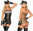 New Womens Police Cop Uniform Halloween Costume Sexy Role Play Bedroom Lingerie