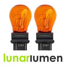 Lunar Lumen 3157 3757A 183 Turn Signal Indicator Yellow Amber Bulbs PY27/7W