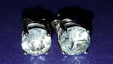❤ JAYNES GEMS DAZZLING . 2CT BLUE TOPAZ  STUD EARRINGS