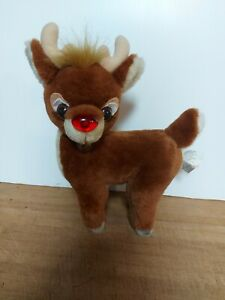 """Vintage 1990 Applause Inc. Rudolph The Red Nosed Reindeer Plush 12"""" Htf"""