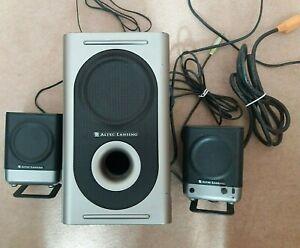 Altec Lansing Model 221 Amplified Speaker System 20 Watts in Grey & Black for PC