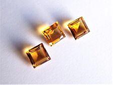 Citrin Carree Quadrat Princess 9 x 9 mm gelb orange