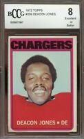 1972 topps #209 DEACON JONES san diego chargers BGS BCCG 8