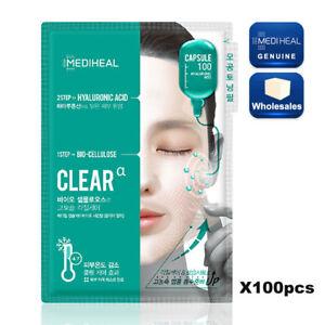 Wholesales 100pcs MEDIHEAL-Capsule 100 BIO Seconderm CLEAR αMask Pack+HYALURONIC