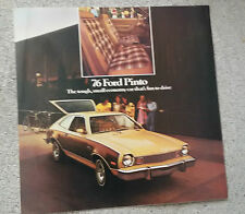 1976 FORD PINTO CATALOGO DEPLIANT BROCHURE USA NOS
