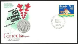 Canada   # B5  Kingswood -  Olympic Water Sports Cachet   Brand New 1975 Issue