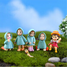 5Pcs Mini Figurines Girl Mei Doll Resin Crafts Moss Terrarium Fairy Garden JT