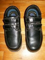 Mens Dr Scholls Black Leather Comfort Walking Shoes Double Strap Velcro Size 7W