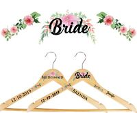 Personalised Vinyl Wedding Coat Hanger Decal Stickers Floral -WH2