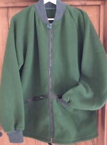 British Army Fleece Olive Green, Big Pockets , thumb holes VGC Knitted cuffs