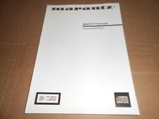 Marantz Model CD-17 CD Player User's Guide 91 Pages