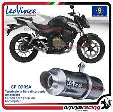 Leovince GP CORSA Tubo de Escape carbono Honda CB 400/500 F/X 2013>2015