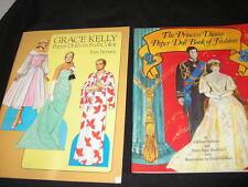 GRACE KELLY PRINCESS DIANA PAPER DOLL BOOK TOM TIERNEY