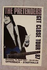 The Pretenders Concert tour poster 1987 Germany