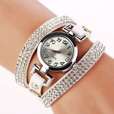 Fashion Women Watch Bracelet Crystal Leather Dress Analog Quartz Wrist Watches h