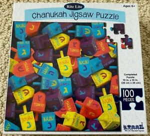 NIB Rite Lite Chanukah Hanukkah Dreidel 100 Piece Jewish Holiday Jigsaw Puzzle